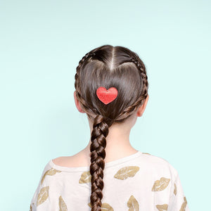 Valentine's Day hair: lace braid heart