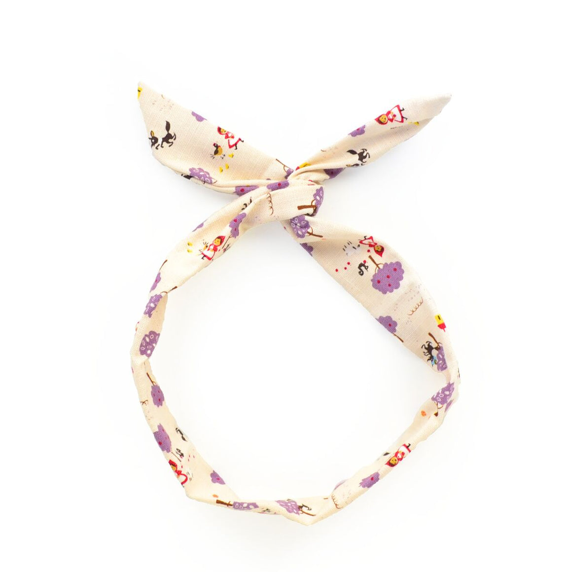little lavender riding hood twist tie // hello shiso hair accessories for girls