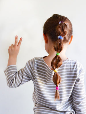 rainbow hair ties // hello shiso hair accessories for girls
