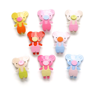 acrylic teddy bear clip // hello shiso hair accessories for girls