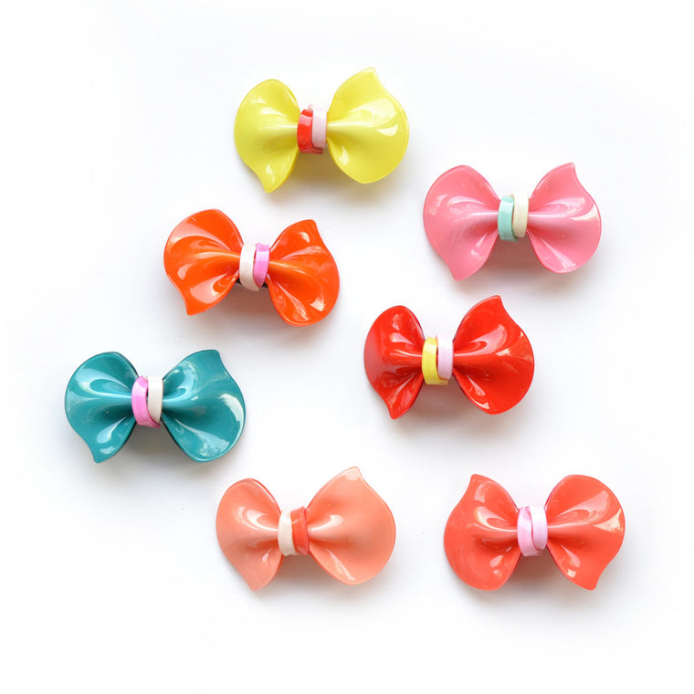 acrylic bow clip  // hello shiso hair accessories for girls