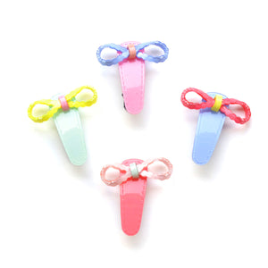 acrylic bow pinch clip // hello shiso hair accessories for girls