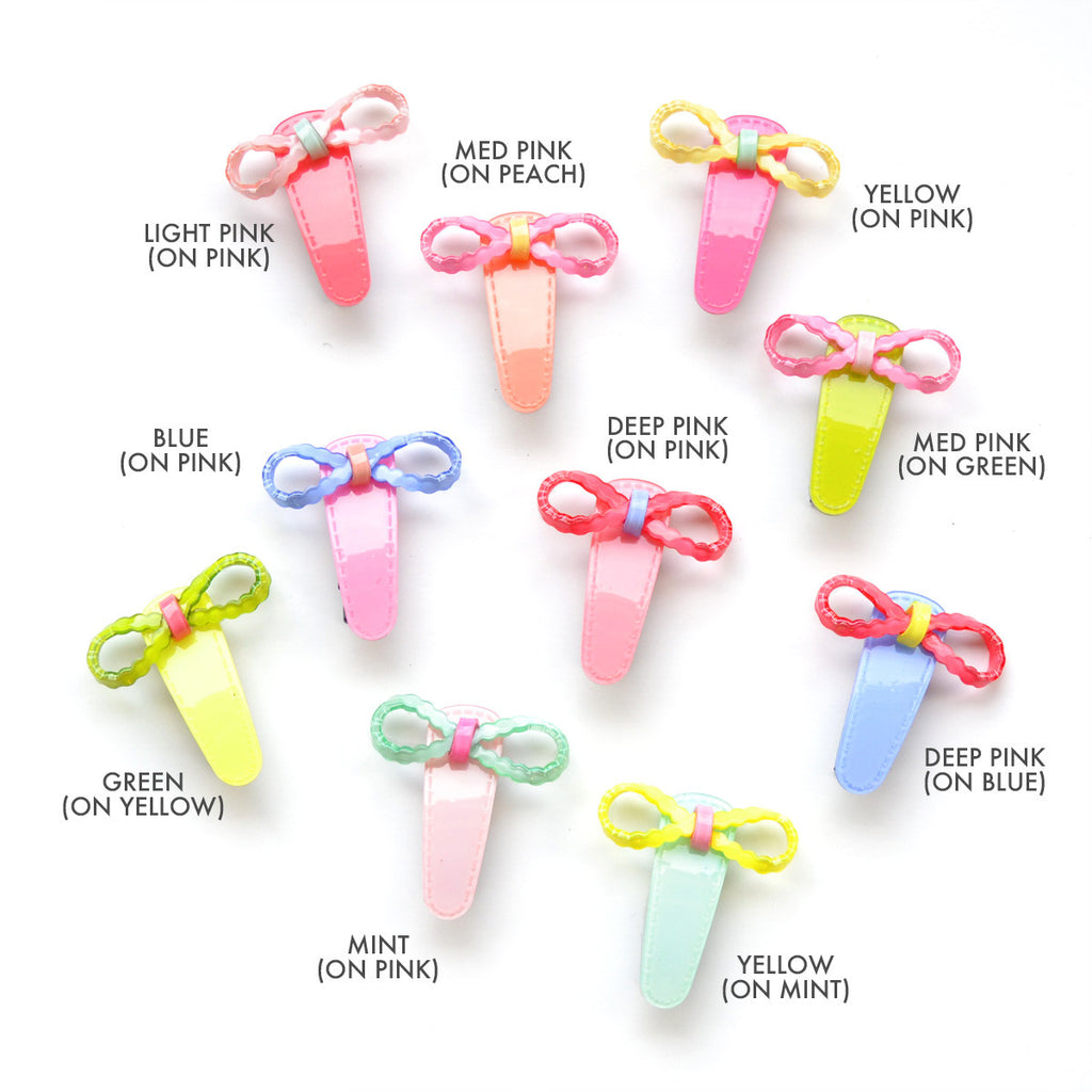 acrylic bow snap clips  // hello shiso accessories for girls