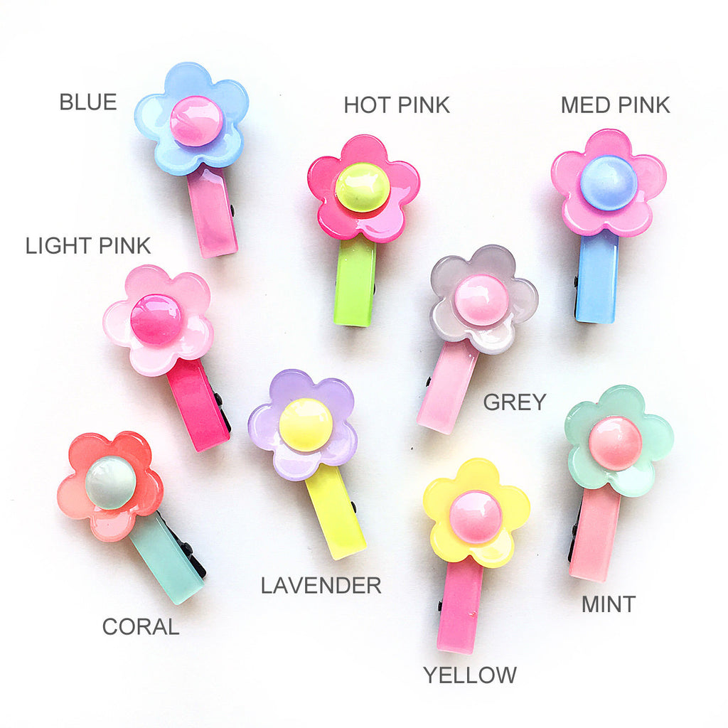 acrylic flower clip // hello shiso hair accessories for girls