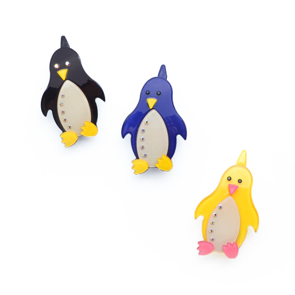 acrylic penguin clip  // hello shiso accessories for girls