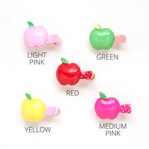 plastic apple clip // hello shiso hair accessories for girls