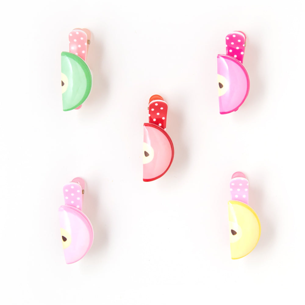 plastic apple slice clip // hello shiso hair accessories for girls