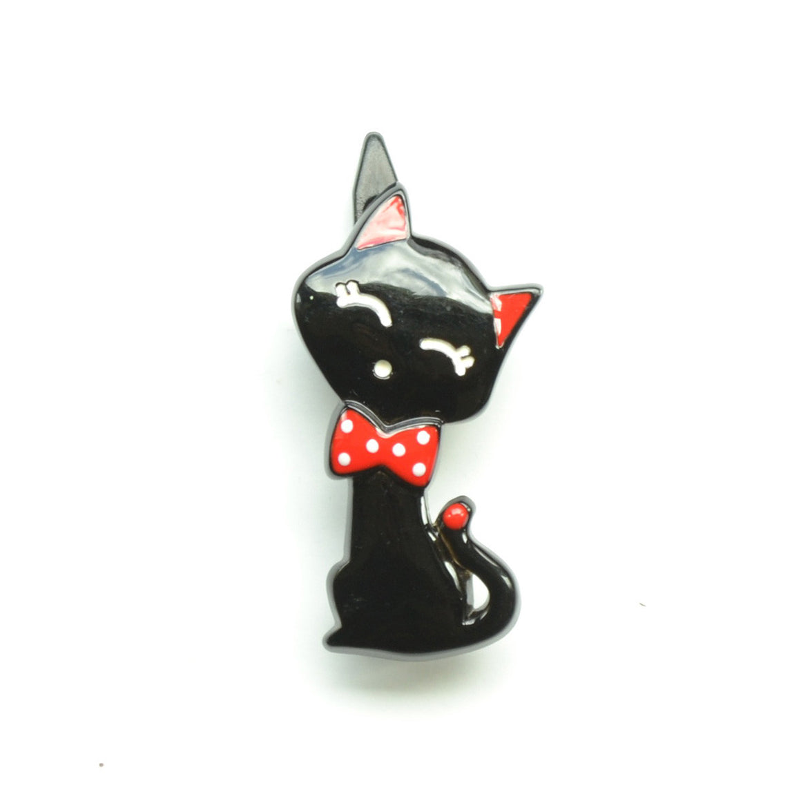 plastic black cat clip // hello shiso hair accessories for girls