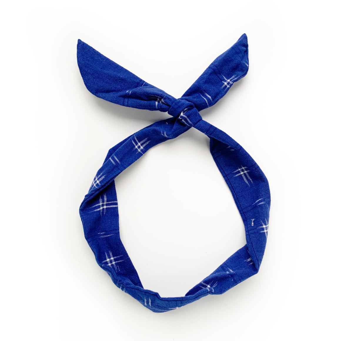 blue ikat twist tie // hello shiso hair accessories for girls