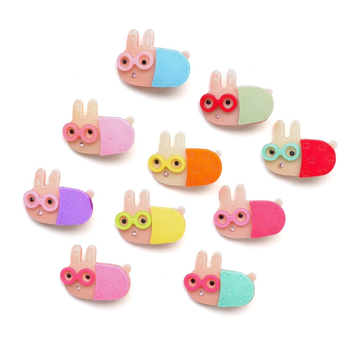 bookworm bunny clip // hello shiso accessories for girls