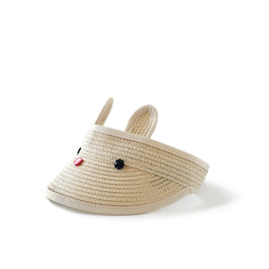 bunny visor in beige // hello shiso hair accessories for girls