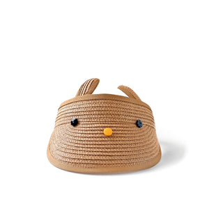 bunny visor in khaki // hello shiso hair accessories for girls