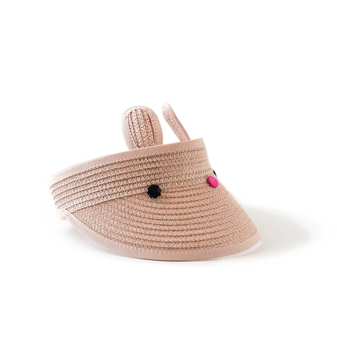 bunny visor in pink // hello shiso hair accessories for girls