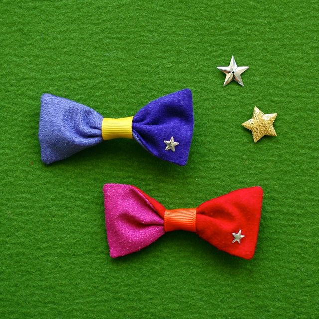 color block bow // hello shiso hair accessories for girls