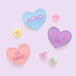 conversation heart clip // hello shiso hair accessories for girls