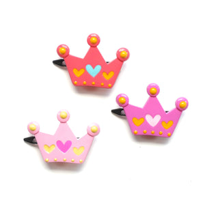 plastic crown clip // hello shiso hair accessories for girls