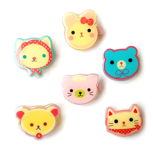 animal face clip // hello shiso hair accessories for girls