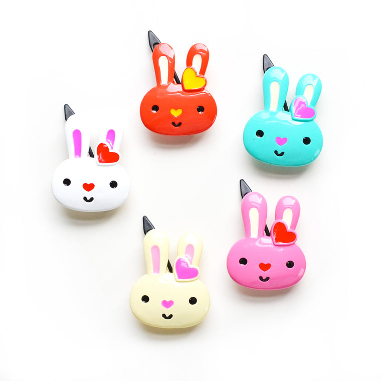 plastic cute bunny clip // hello shiso hair accessories for girls