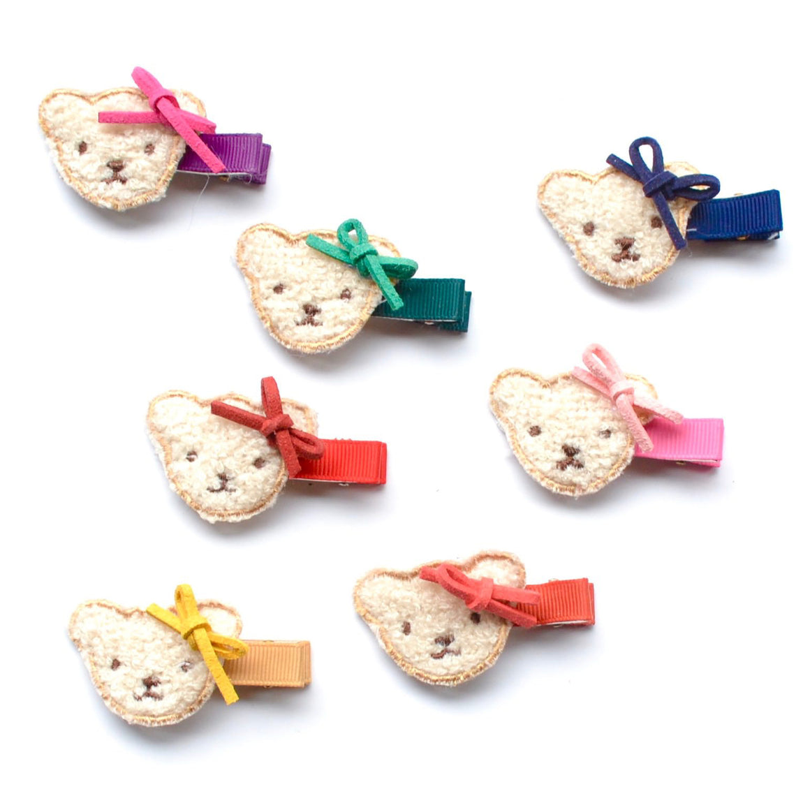 fuzzy teddy bear clip // hello shiso hair accessories for girls