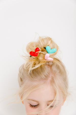plastic heart clip // hello shiso hair accessories for girls