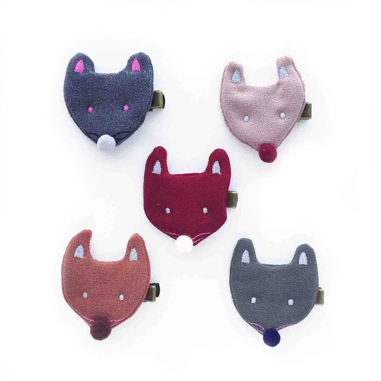 hello shiso hair accessories for girls // fabric mouse clip
