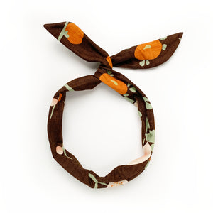 fall floral twist tie // hello shiso hair accessories for girls