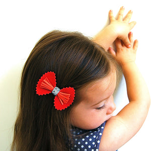fancy bow clip // hello shiso hair accessories for girls