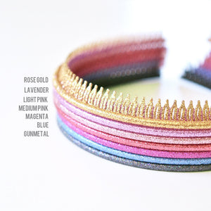 flexible glitter headband // hello shiso hair accessories for girls
