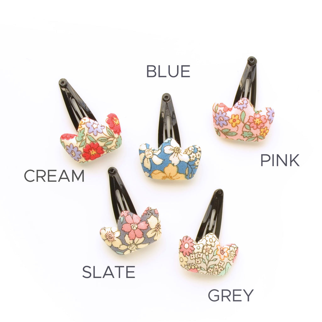hello shiso hair accessories for girls // floral crown snap clip
