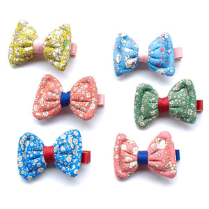 floral fabric bow clip // hello shiso hair accessories for girls