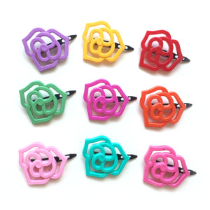flower outline clip // hello shiso hair accessories for girls