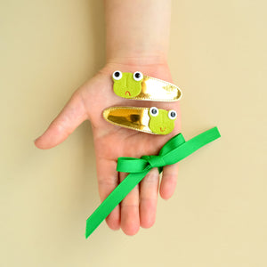 frog clips // hello shiso hair accessories for girls