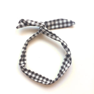 gingham twist headband // hello shiso hair accessories for girls