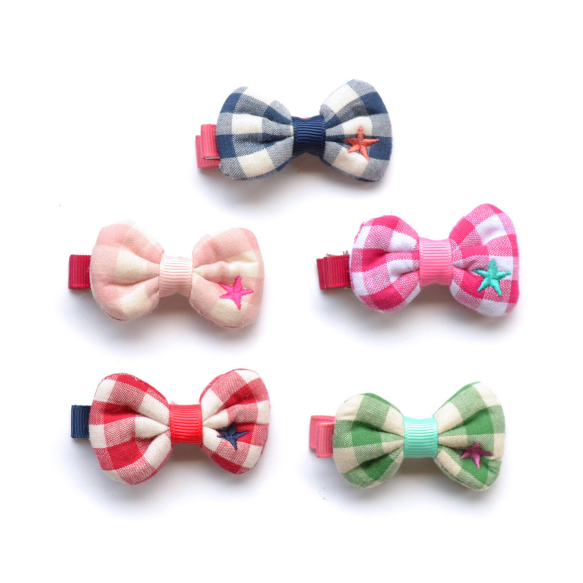 gingham star clip // hello shiso hair accessories for girls