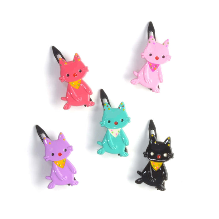 plastic hanky cat clip // hello shiso accessories for girls
