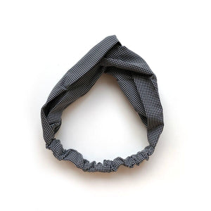 women's check twist headwrap // hello shiso hair accessories for girls