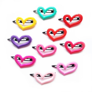 plastic heart outline clip // hello shiso hair accessories for girls