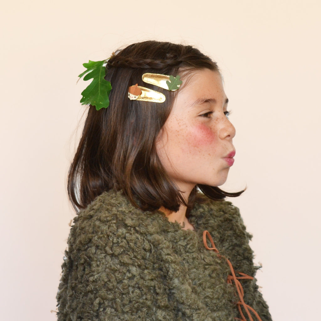 acorn + oaks clips // hello shiso hair accessories for girls