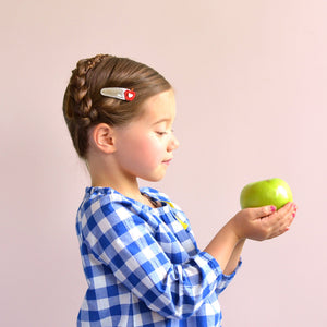 apple clips // hello shiso hair accessories for girls