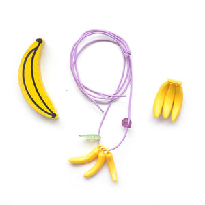 banana necklace // hello shiso hair accessories for girls