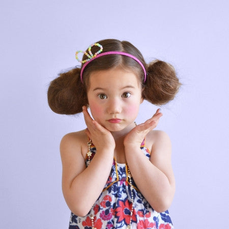 bead bow headband // hello hair accessories for girls