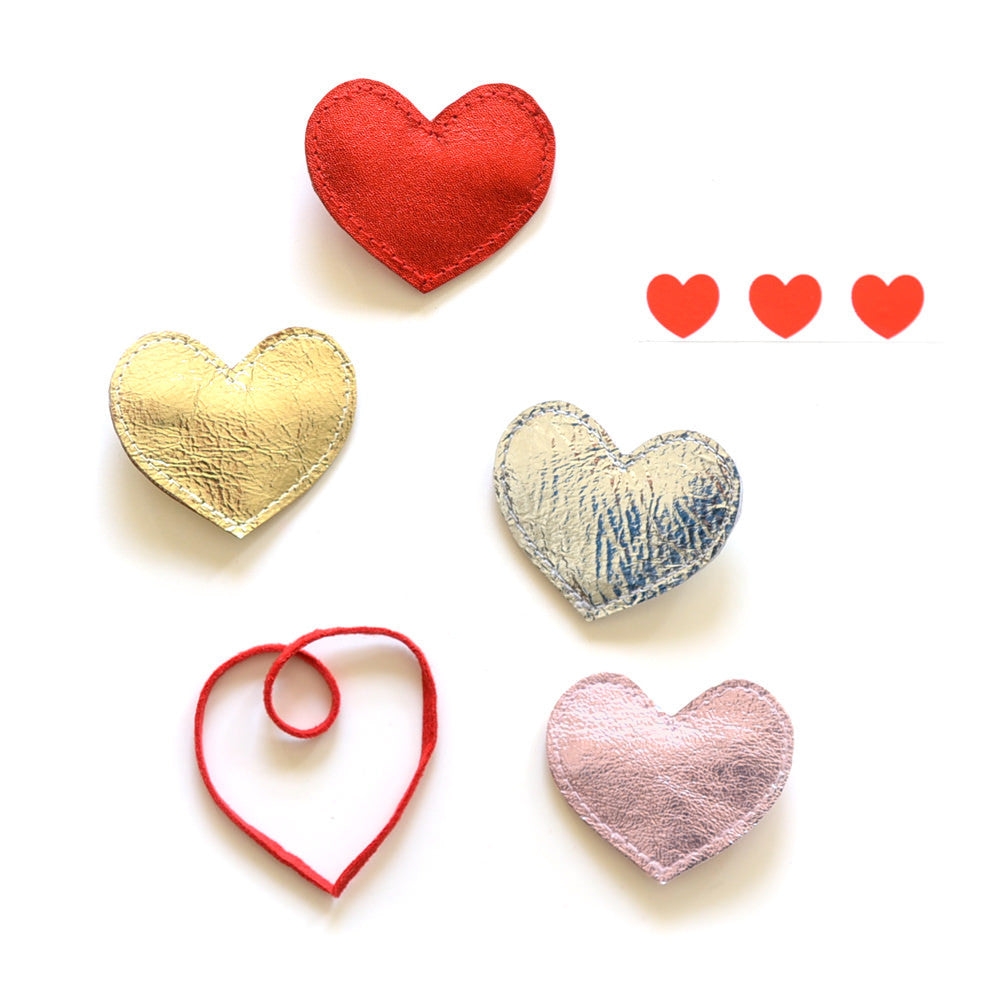 big heart clips // hello hair accessories for girls
