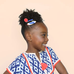 bird pom clips // hello shiso hair accessories for girls