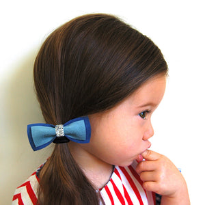 bow tie ponytail holders // hello shiso hair accessories for girls