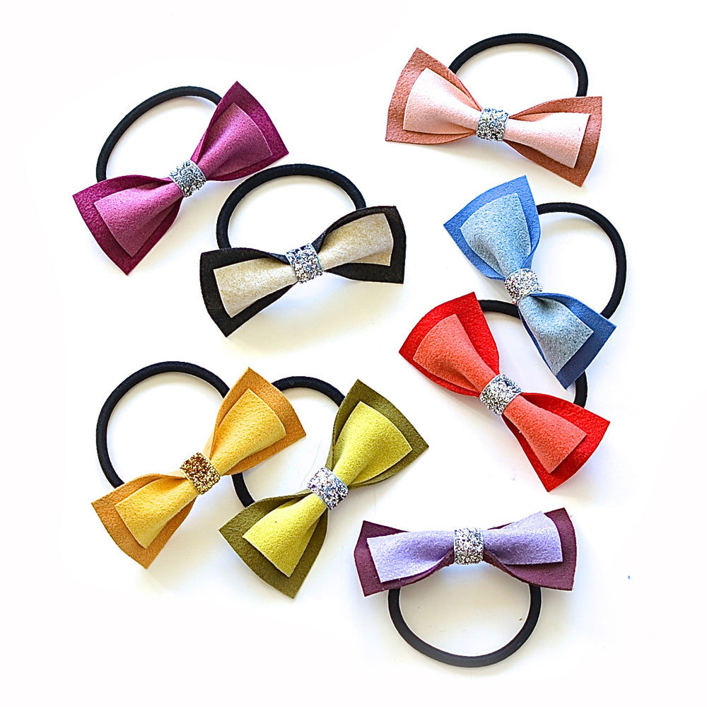 bow tie ponytail holder // hello shiso hair accessories for girls