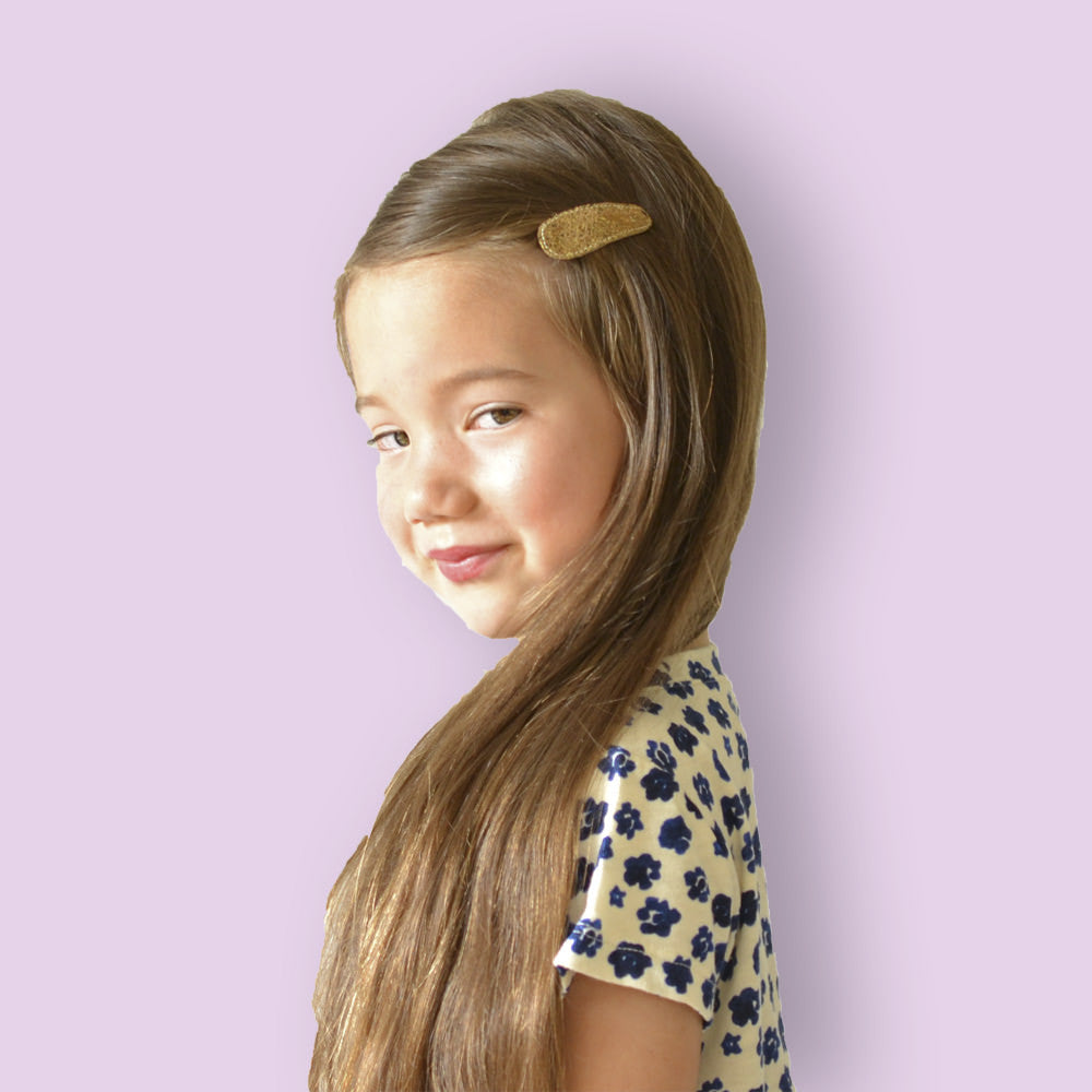 bronze crackle clips // hello shiso hair accessories for girls
