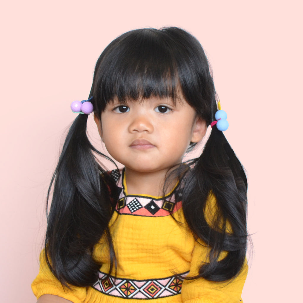 bubbles hair ties // hello shiso hair accessories for girls