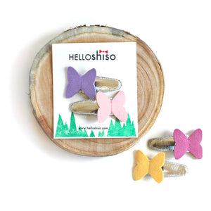 butterfly clips // hello shiso hair accessories for girls