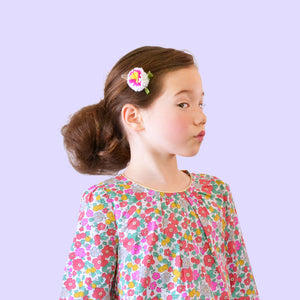 camellia pom // hello shiso hair accessories for girls