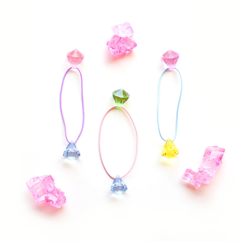 candy gem ponytail holder // hello shiso hair accessories for girls